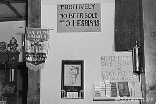 Positively No Beer Sold To Lesbians Sign