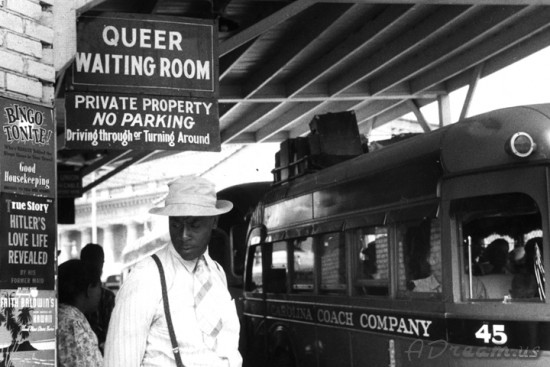 Queer Waiting Room Sign At Bus Station